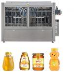 Tự động loại Piston loại nước sốt mứt mật ong Jam độ nhớt cao Chất lỏng đóng gói dòng máy dán nhãn
